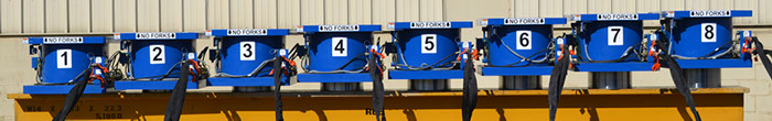 Picture of 4000 ton capacity load weighing system